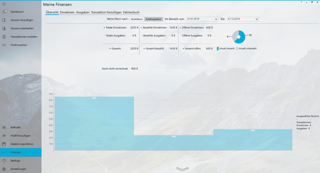 Praxisverwaltung Praxissoftware TheraPsy Buchhaltung Finanzen